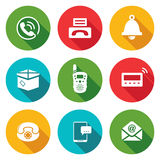 Communication Icons Set. Vector Illustration. Stock Photo