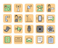 Communication icons. Royalty Free Stock Image