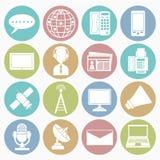 Communication icons set Royalty Free Stock Photos