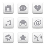 Communication icons set Royalty Free Stock Image