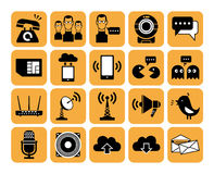 Communication icons. Stock Image
