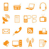 Communication Icons. Simple icons relating to communication. Easy to change colour Royalty Free Stock Photo