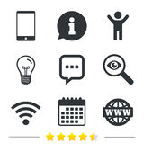 Communication icons. Smartphone and chat bubble. Stock Photography