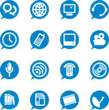Communication icons (vector). Easy to change color and shapes royalty free illustration