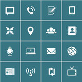 Communication icons, vector eps10 Royalty Free Stock Photography