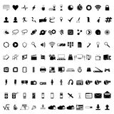 Communication icons. Web icons set Stock Image