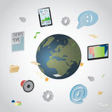 Communication infographics. Stock Images