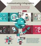 Communication Infographics Set Stock Images