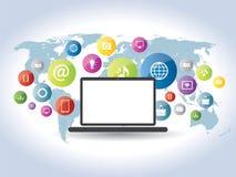 Communication of information on websites Stock Image
