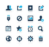 Communication Interface Icons Azure Series Stock Photo