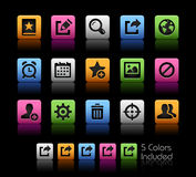 Communication Interface Icons // ColorBox Series Royalty Free Stock Photos