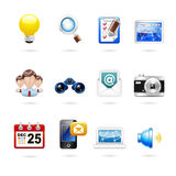 Communication and internet icon set Royalty Free Stock Photography