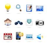 Communication and internet icon set Royalty Free Stock Photography