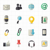 Communication and internet icons Royalty Free Stock Photos