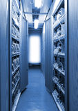 The communication and internet network server Royalty Free Stock Photo