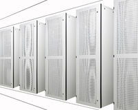 The communication and internet network server Stock Photo