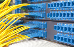 Communication and internet network server Stock Photo
