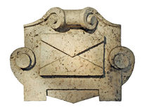 Communication, letter from stone Stock Photo