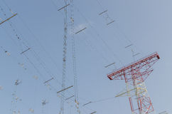 Communication lines transmitting system Royalty Free Stock Photos