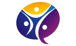 Communication Logo Design Template de synergie Image stock