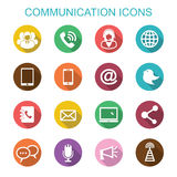 Communication long shadow icons Stock Images