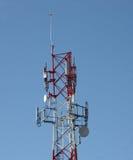 Communication Mast. In La Colonia urban district of Puerto Morelos, Mexico Royalty Free Stock Photo