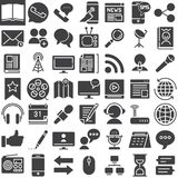 Communication media vector icons set Royalty Free Stock Image