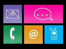 Communication Metro Icons Royalty Free Stock Photo