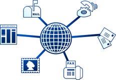 Communication molecule Royalty Free Stock Image