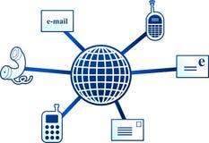 Communication molecule Stock Image