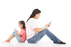 Communication between mother and kid Stock Images