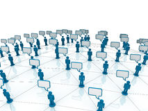 Communication Network. Communication Social Network Speech Bubbles Royalty Free Stock Photography