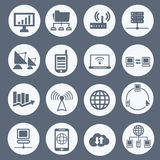 Communication and network icon set Royalty Free Stock Photos