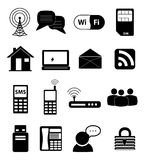 Communication Network Icons Stock Image
