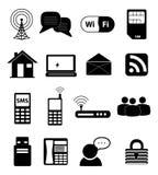 Communication Network Icons Stock Image