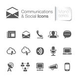 Communication & network related icons Stock Photos