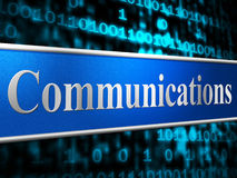 Communication Network Shows Global Communications And Communicating Stock Photos