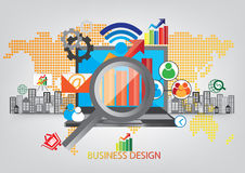 Communication networking graphic design Royalty Free Stock Images