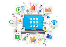 Communication networking graphic design Stock Photography