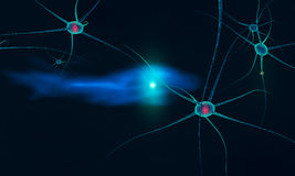 Communication between neurons Stock Photography