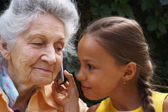 Communication Of Generations Stock Photos