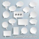 Communication Paper Speech Bubbles Set Stock Photo