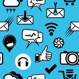 Communication pattern Royalty Free Stock Images