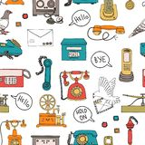 Communication repeating pattern royalty free illustration
