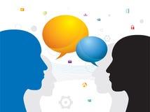 Communication between people Stock Photos