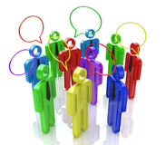 Communication of people. In the design of the information associated with communication Royalty Free Stock Photos