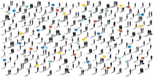 Communication People Diverse Crowd Business People Concept Stock Images