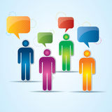Communication of people on the internet Stock Images