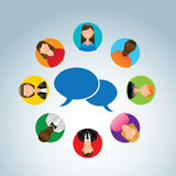 Communication people Royalty Free Stock Photos