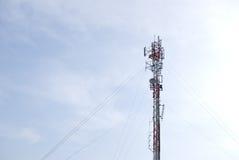 Communication pole Stock Images